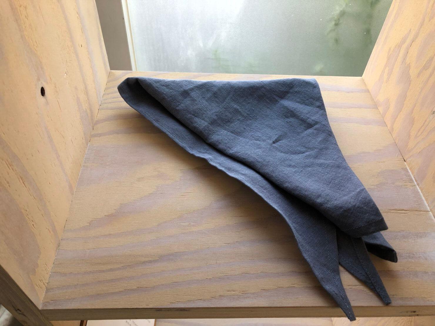 ブルーグレー 三角巾
