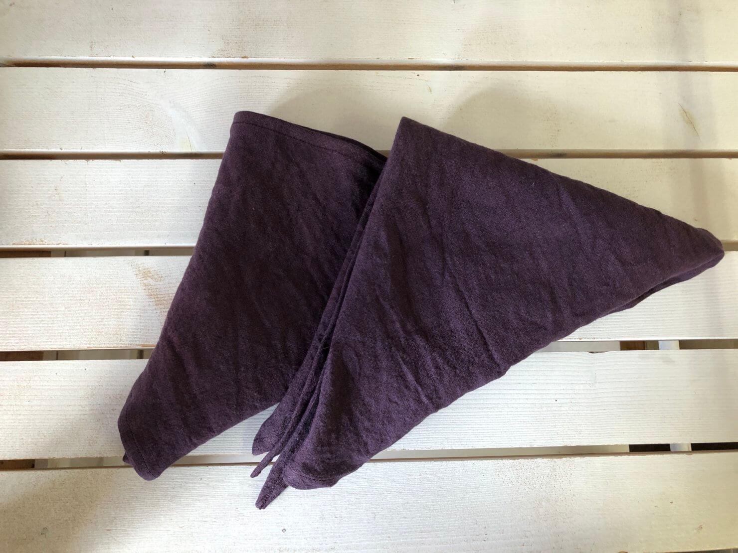 プルーンリネン三角巾