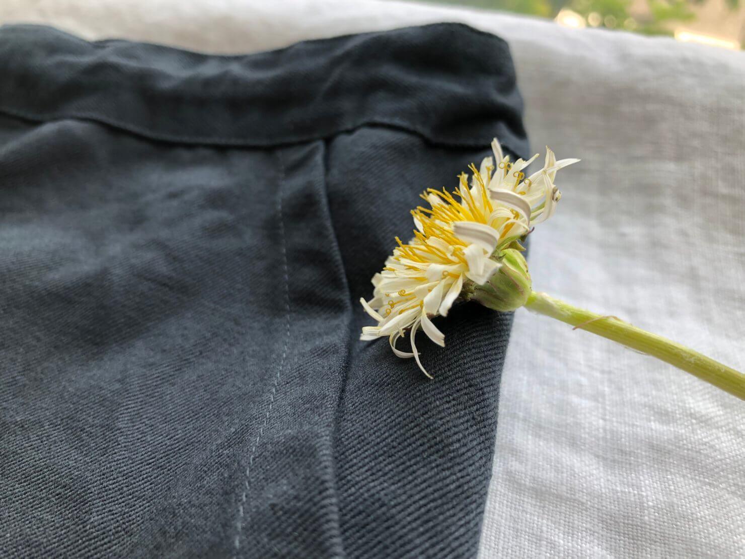 スカートのようなパンツ   素材