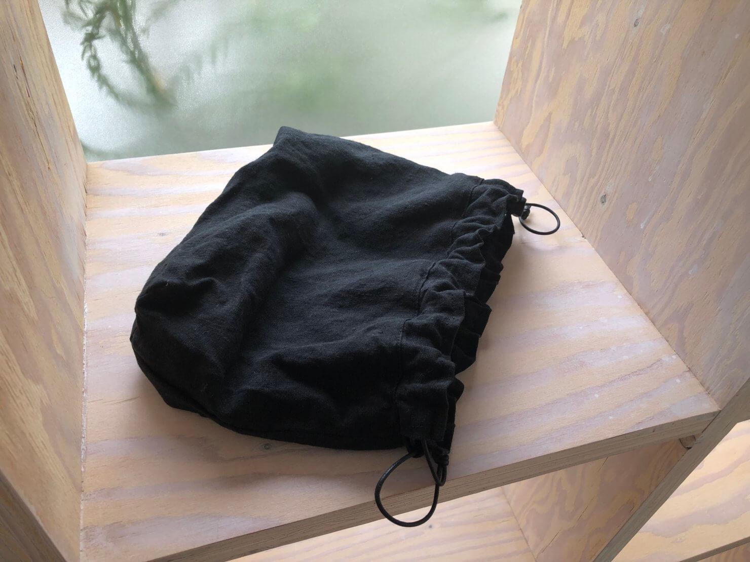 黒巾着   マチ1
