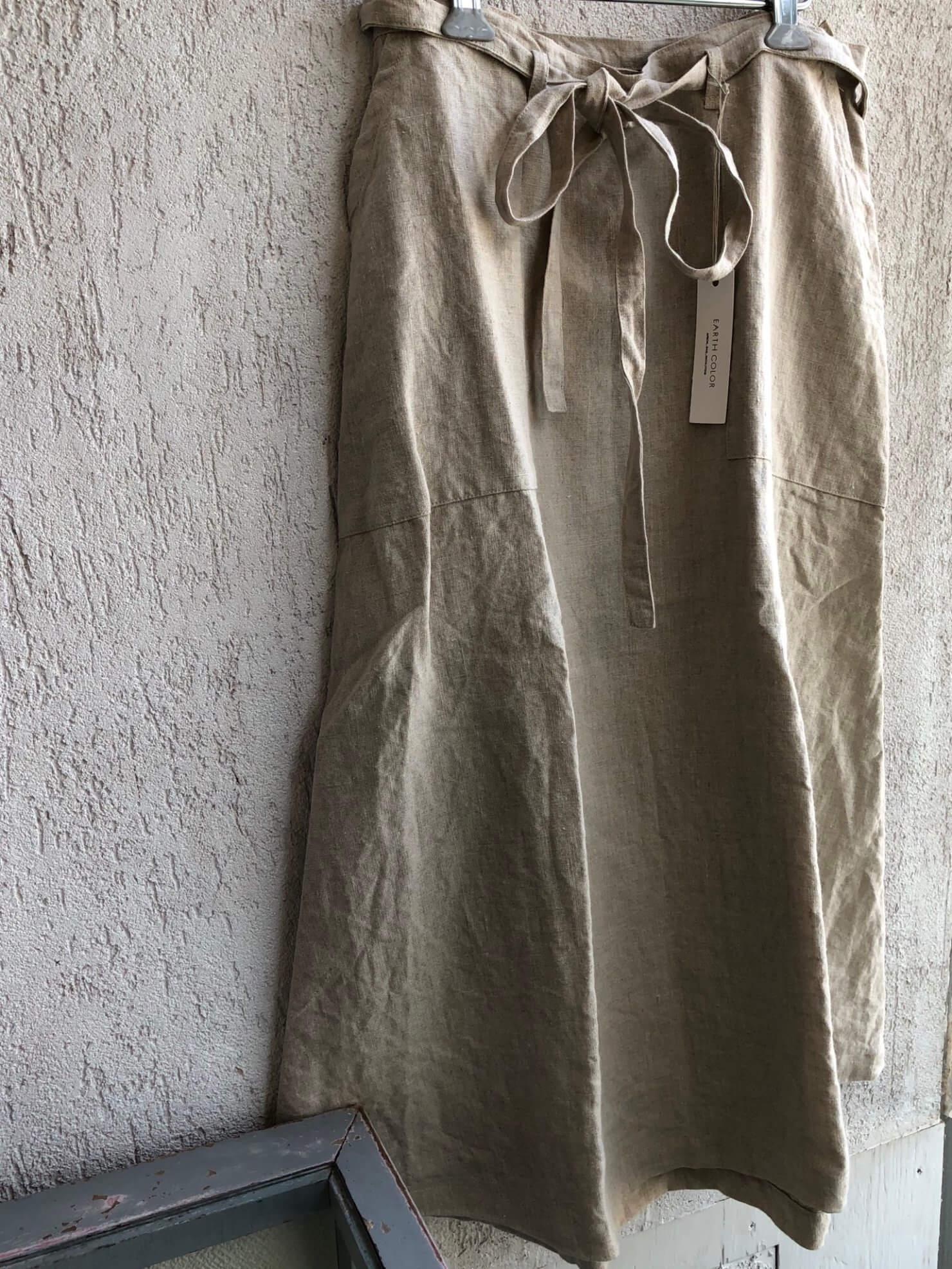 リネンラップスカート