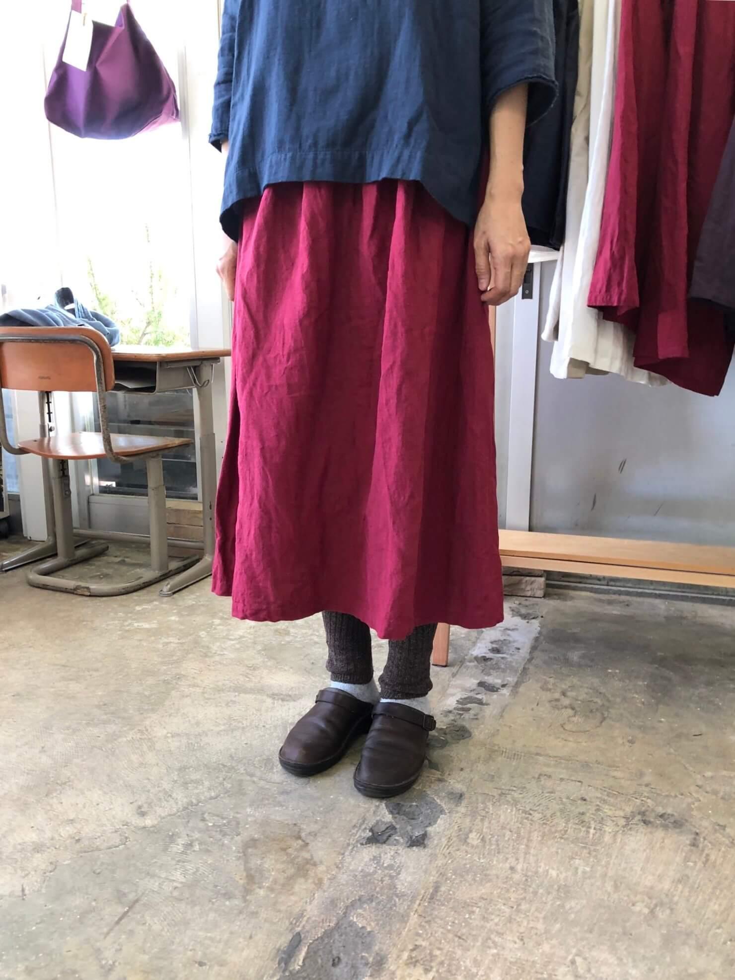 チェリーリネンギャザースカート   80