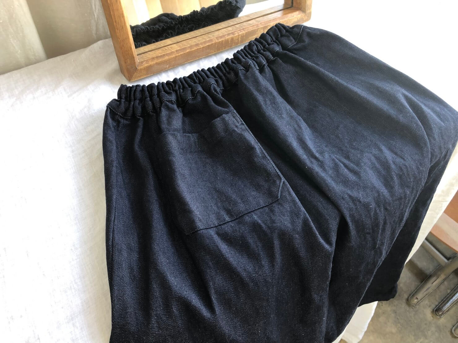 ネイビーデニムポケットスカート