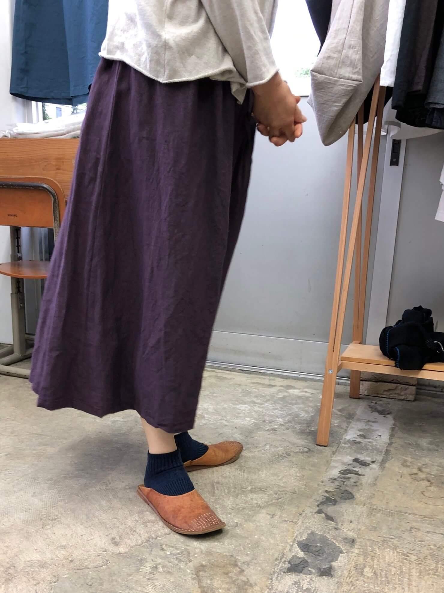 プルーンギャザースカート 5