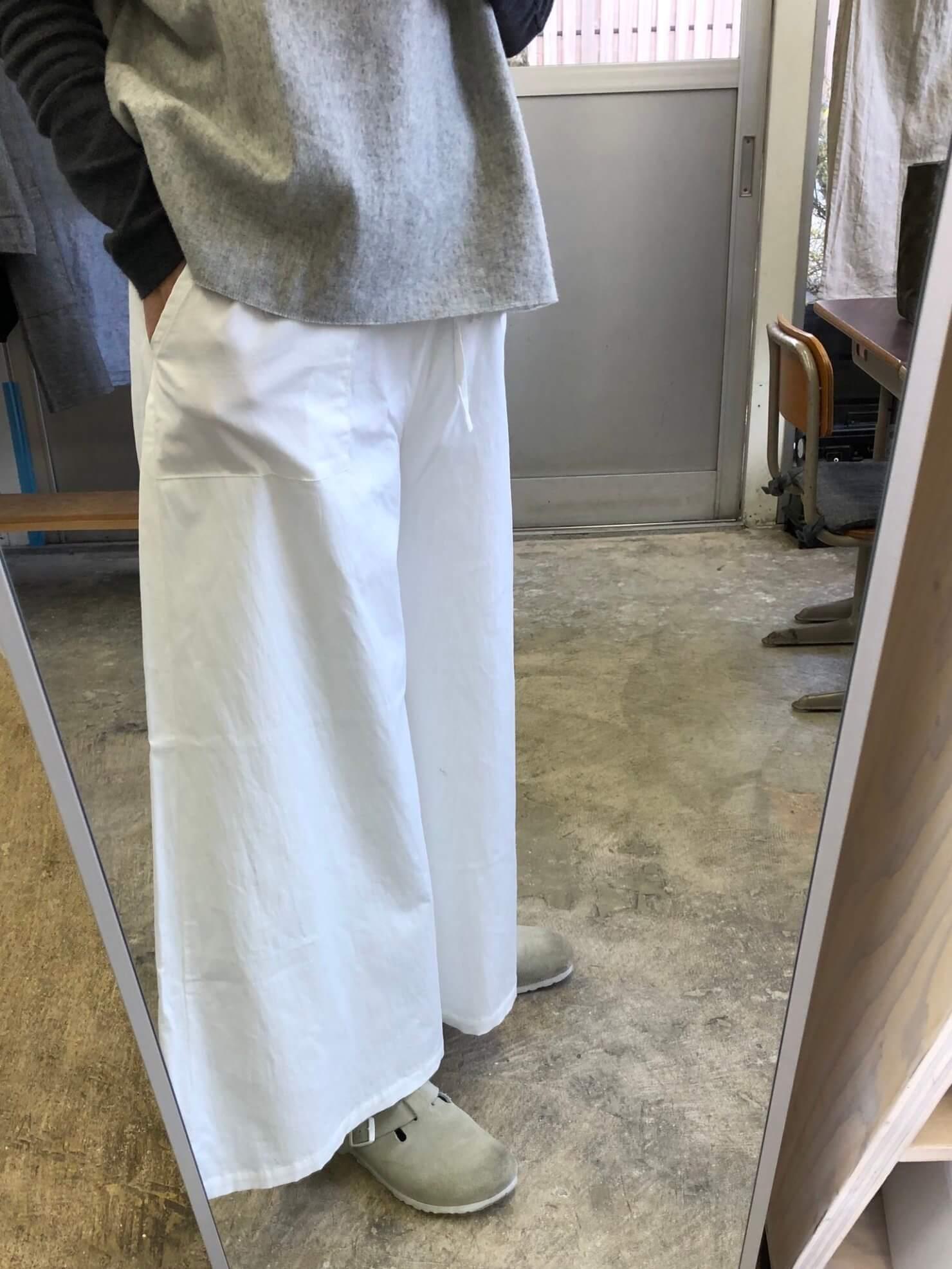 白スカート のようなパンツ63-1