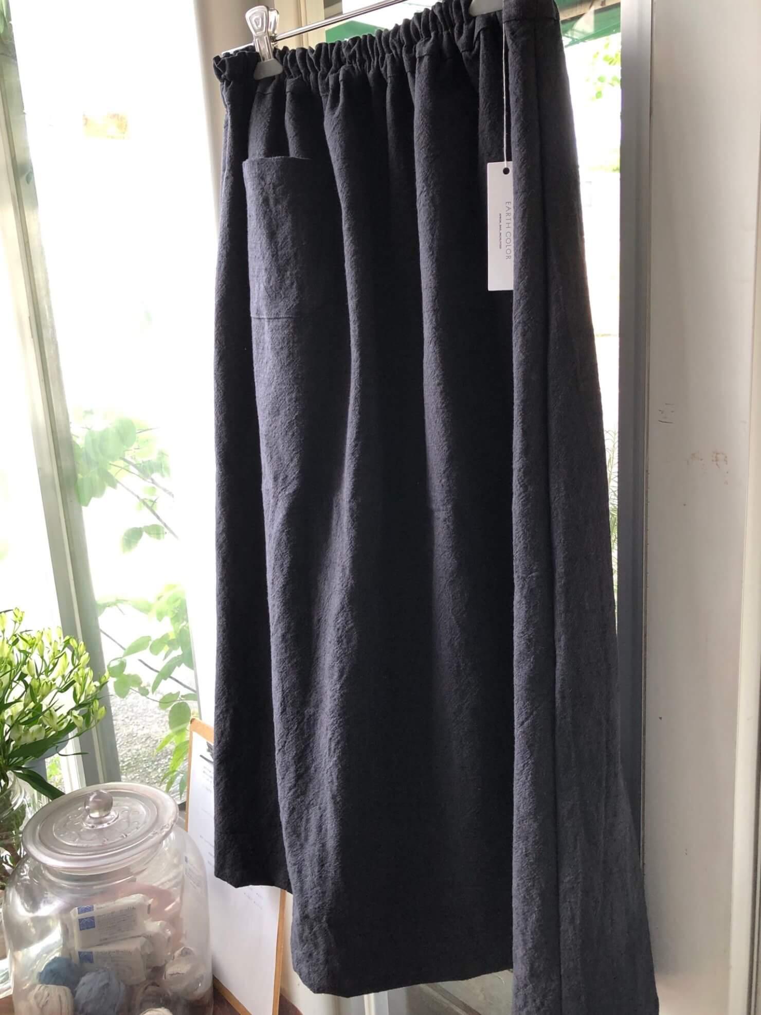 グレーコットンポケットスカート