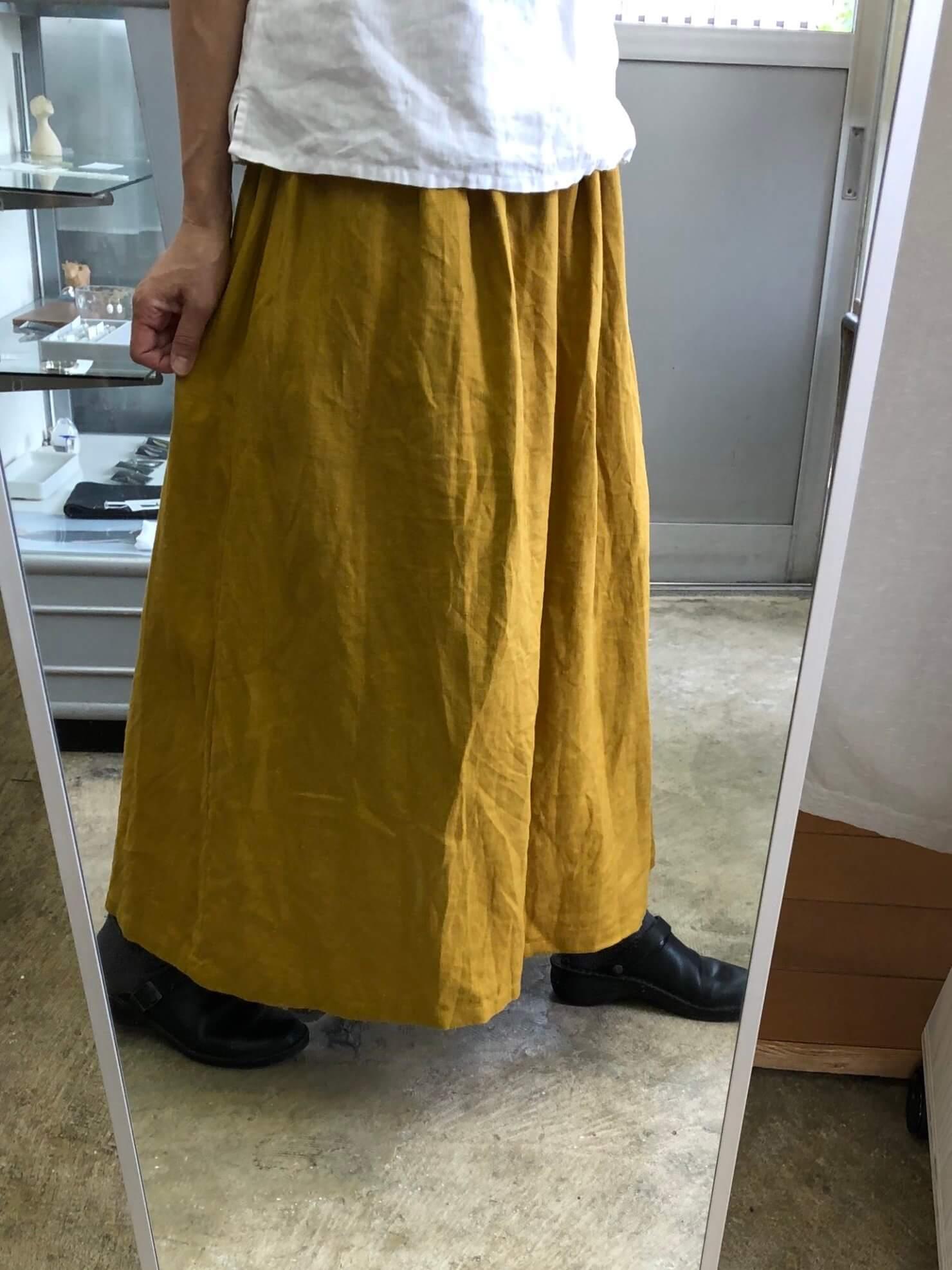 カラシギャザースカート 4