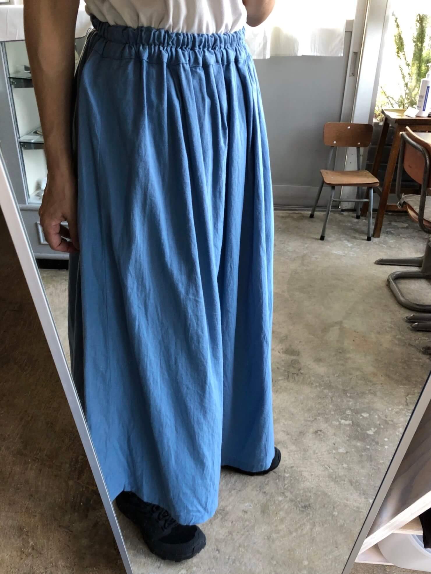 水色ギャザースカート
