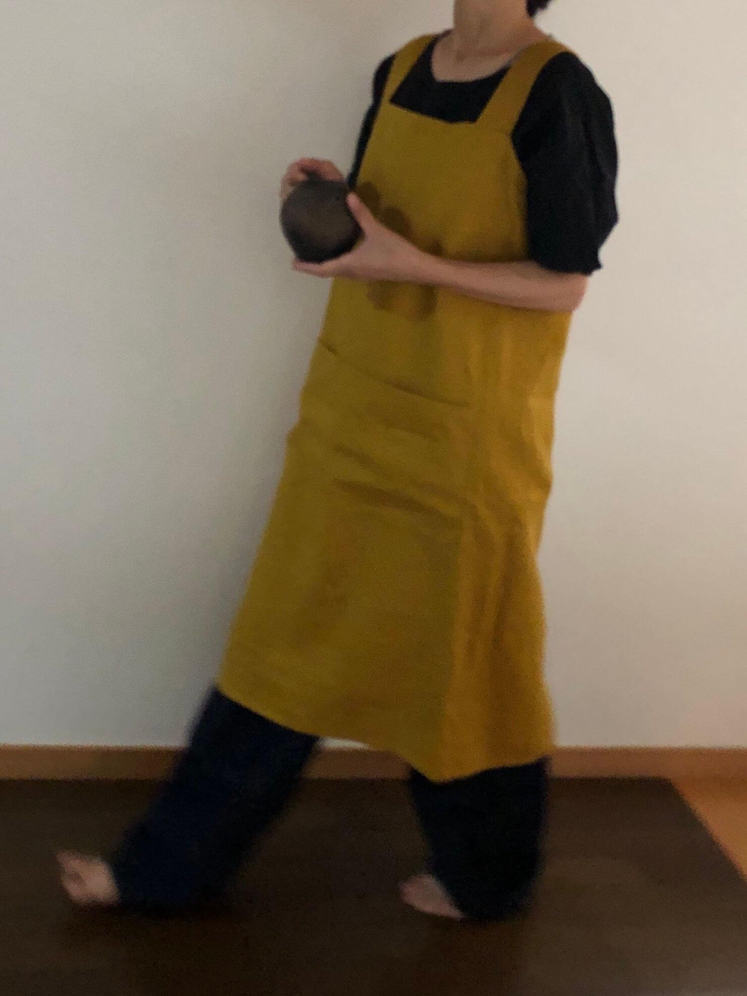 cross apron karashi2サイズ 4
