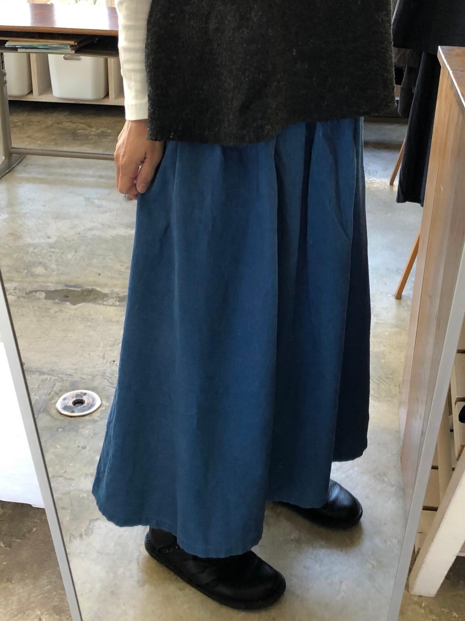 ブルーギャザースカート