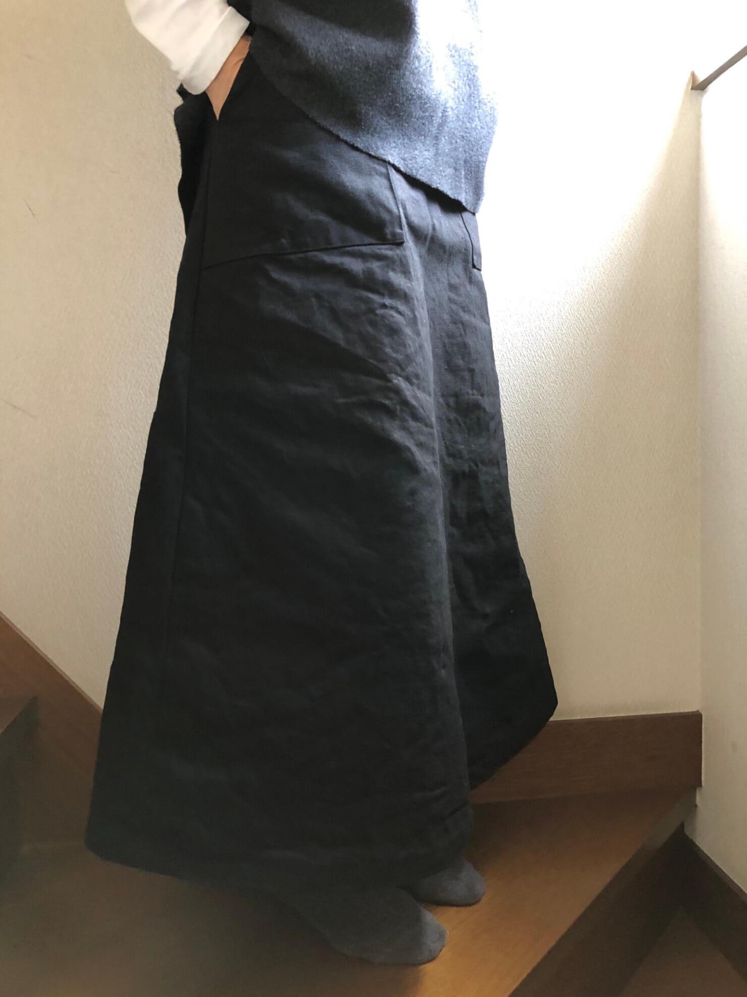 黒ラップスカート7