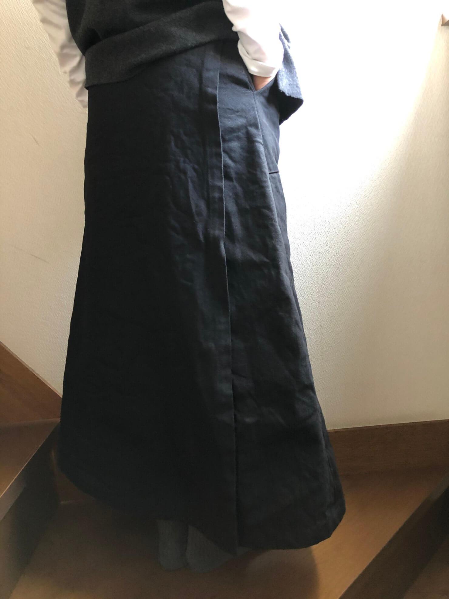 黒ラップスカート84cm