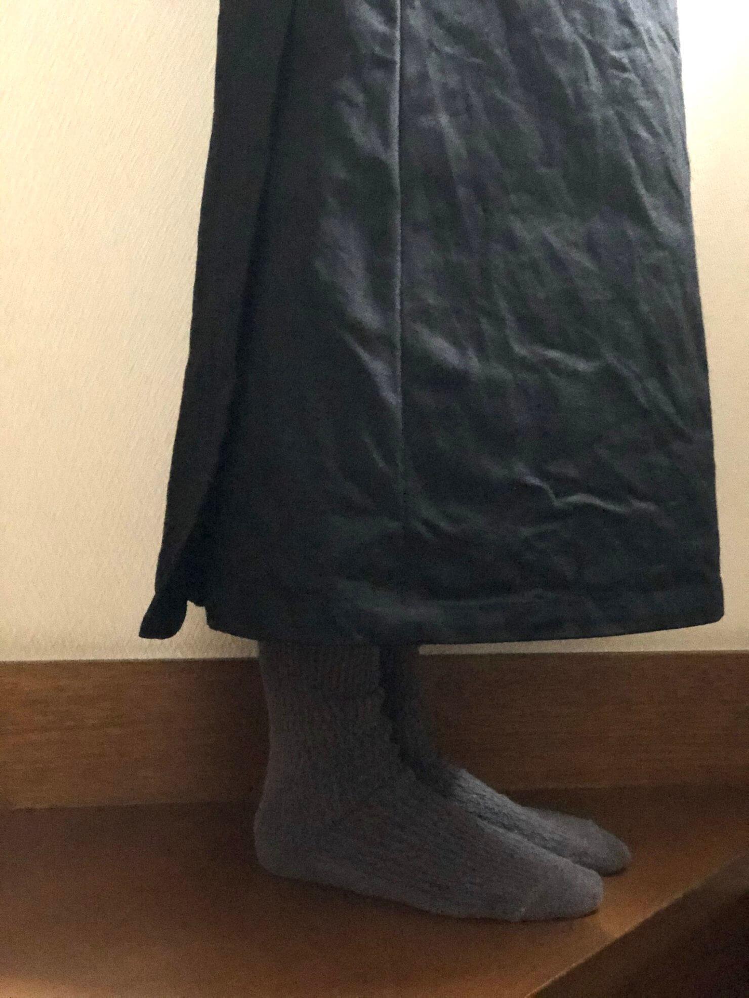 黒ラップスカート6