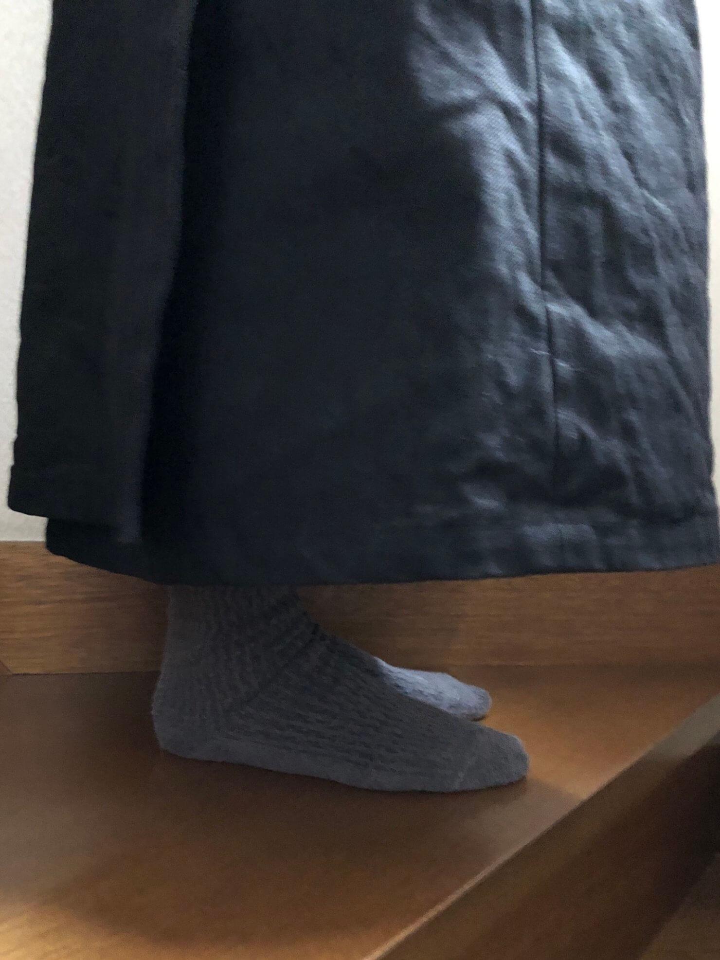 黒ラップスカート 84