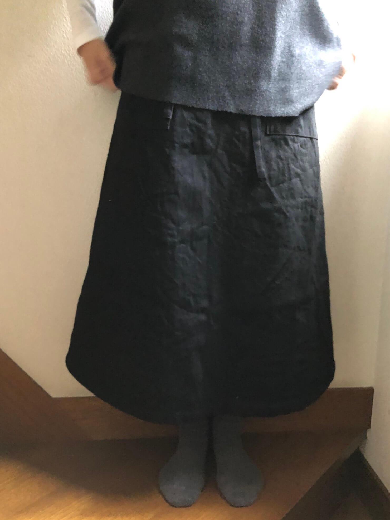 黒ラップスカート5